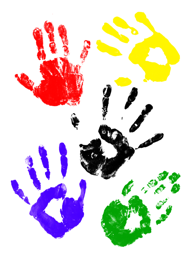 childrens-handprints