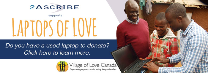 Laptops of Love - Do you have a used laptop to donate? Click here to learn more.